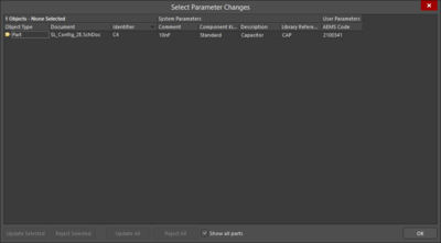 Two variations of theParameter Table Editor dialog