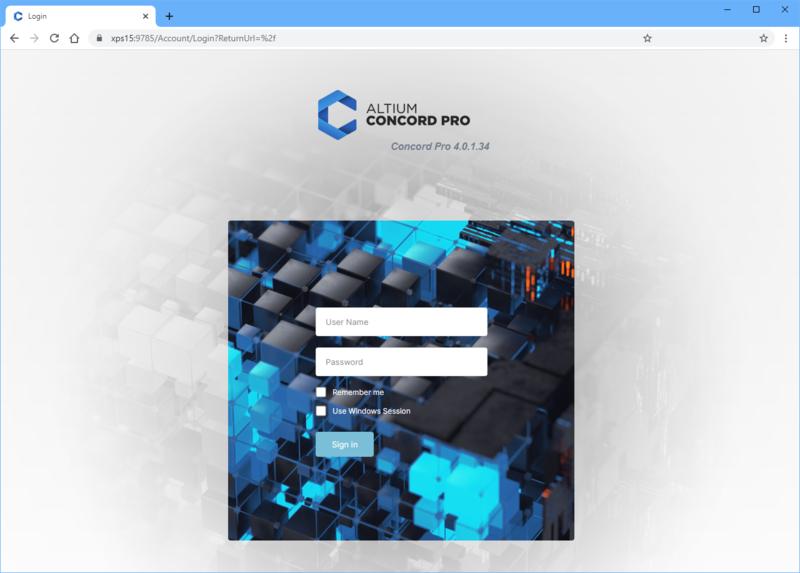 Вход на сервер управляемых данных через веб-интерфейс