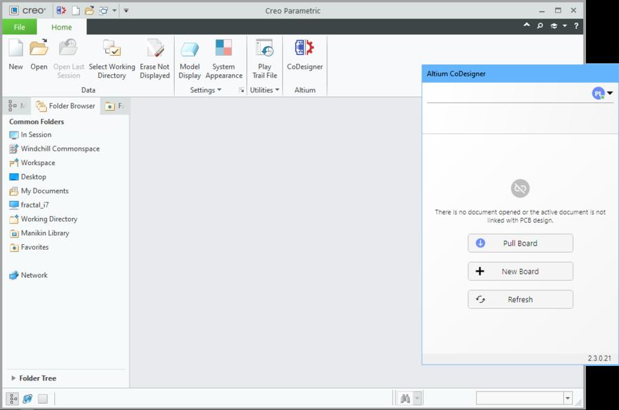 После входа на сервер управляемых данных вы можете открыть существующую плату или создать новую сборку