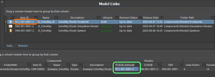 Model link and assignments are updated with the latest revision after the release process completes.
