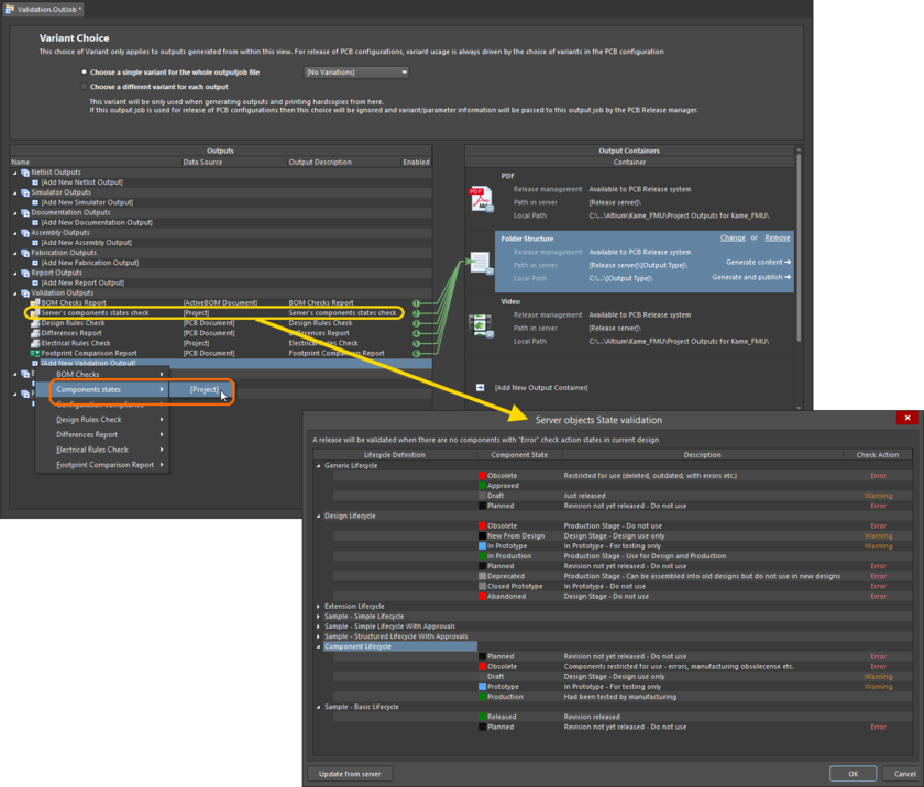 Add and configure a component state check as part of your overall validation regimen during board design release.