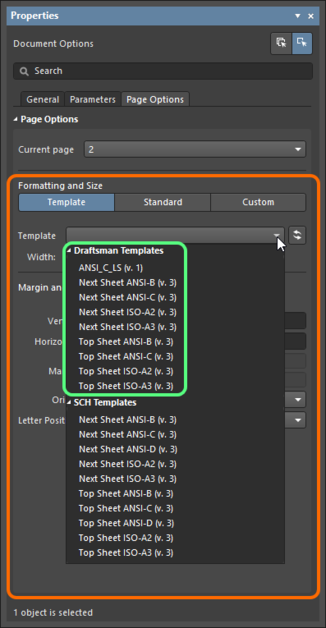 If Draftsman Sheet Template Items exist, then when actively connected  to the server they will be presented, instead of the local templates.