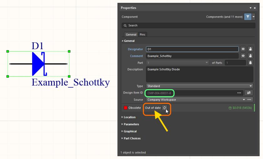 Пример обновления компонента до его самой новой ревизии. Наведите курсор мыши на изображение, чтобы увидеть результат.