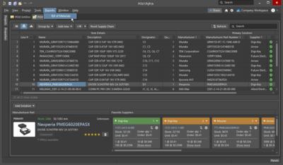 Если проект содержит документ BomDoc, он будет использоваться в качестве источника для Report Manager.