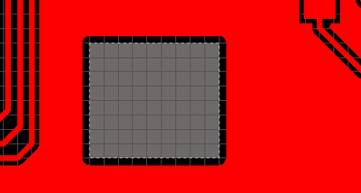 A Board Cutout in the first image, with a Route Tool path defined in the second image.