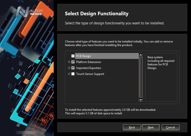 What initial functionality would you like in your installation of Altium NEXUS? - The choice is yours!