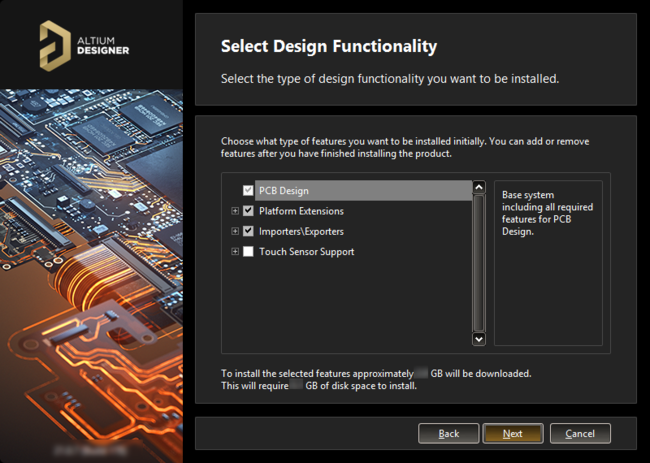 What initial functionality would you like in your installation of Altium Designer? The choice is yours!