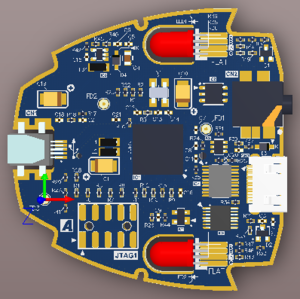 PCB editor 3D Layout view mode