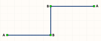 A selected Wire ready for graphical editing.
