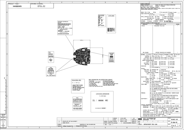 Highly detailed fabrication and assembly drawings can be created by placing objects on mechanical layers.