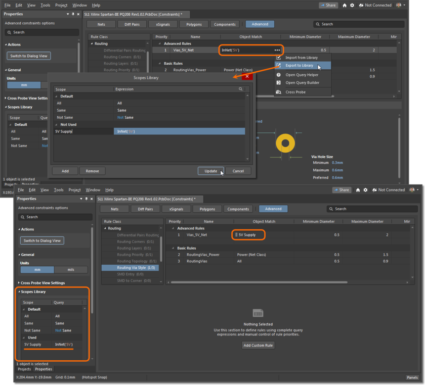 Use the scopes library to simplify creating of custom rules.