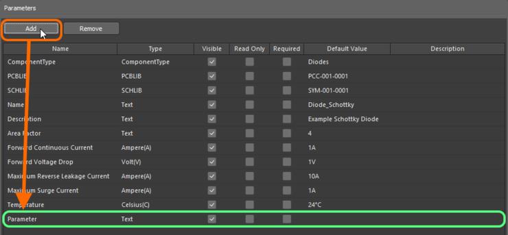 Пример добавления в шаблон нового пользовательского параметра.