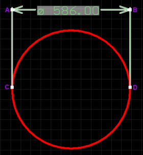 A selected Linear Diameter Dimension.