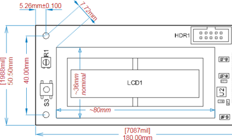A variety of Linear Dimensions applied to a Board Assembly View.
