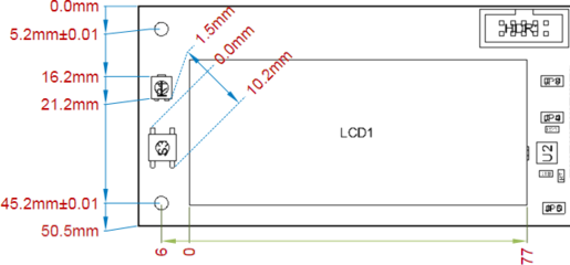 A variety of Ordinate Dimensions applied to a Board Assembly View.