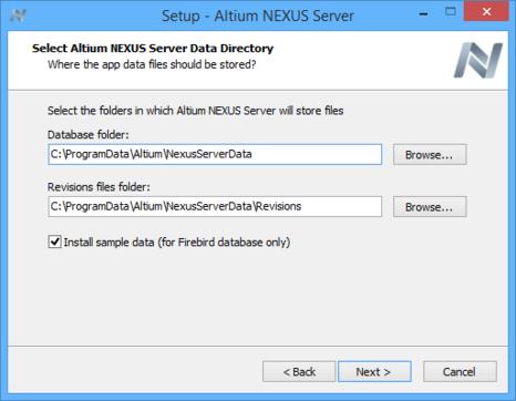 Determine install locations for server data.
