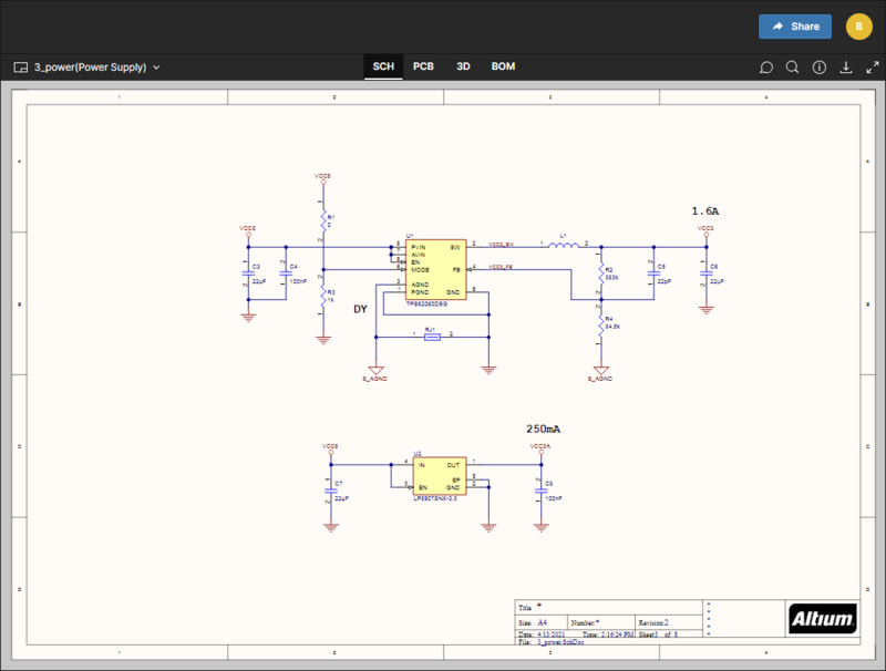 The SCH data view presents the currently selected schematic source document.