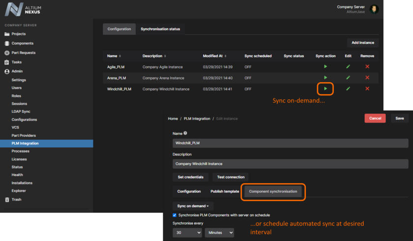 Perform a sync on-demand, or set up automated synchronization as part of the interface configuration.