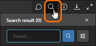 The Web Viewer interface's Search pane.