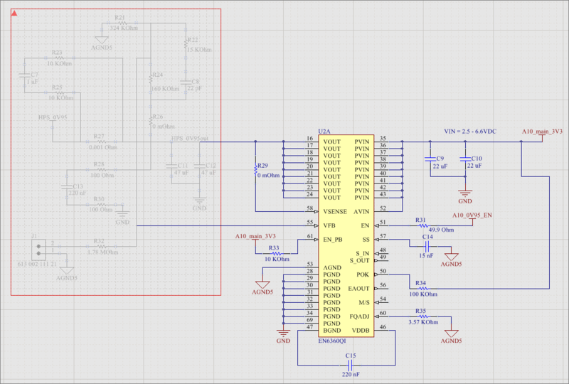 A placed Compile Mask, shown on the left side of the above schematic.