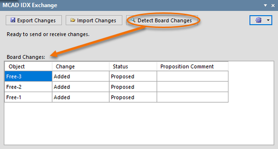 Detecting changes to the board.
