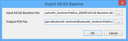 Accept collaboration from within Altium Designer by importing the MCAD Baseline.