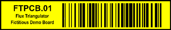 Example using inverted barcode and additional inverted text strings.