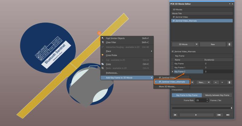Добавьте ключевые кадры в ролики непосредственно из проектной области.