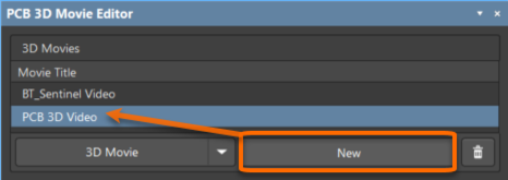Example of adding a new movie and renaming it (hover over the image).