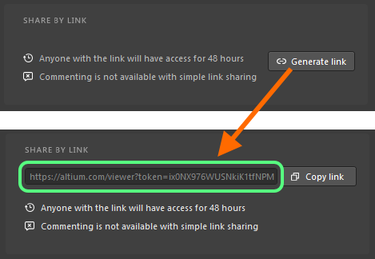 Generating the time-limited link that can be shared with anyone, anywhere.