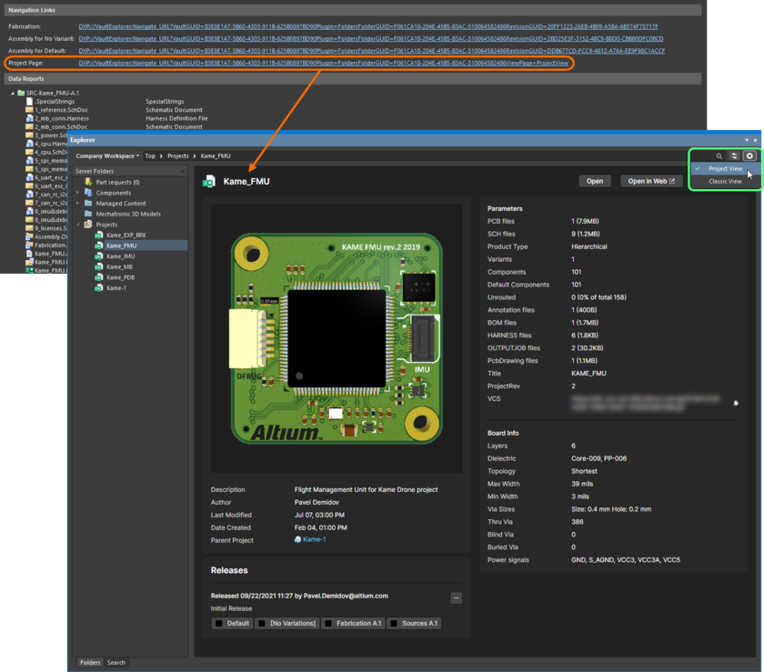 You can explore a Workspaceproject in the Explorer panel in more detail, courtesy of the Project View.