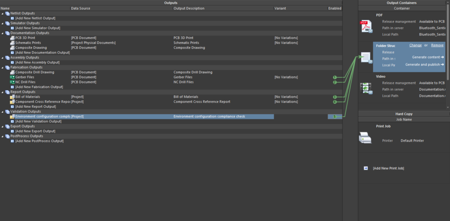 Output jobs are configured as an OutJob file, giving you full control over print-based output.