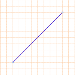 A selected Line. Click and drag the Line to reposition it on the drawing document.