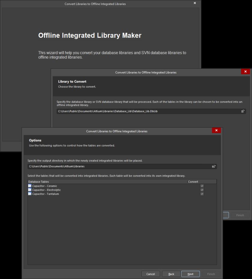 Offline Integrated Library Maker