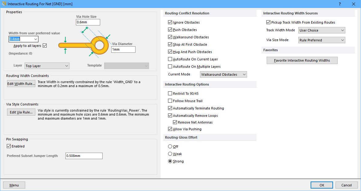 Interactive Routing   Altium Designer 15 1 User Manual