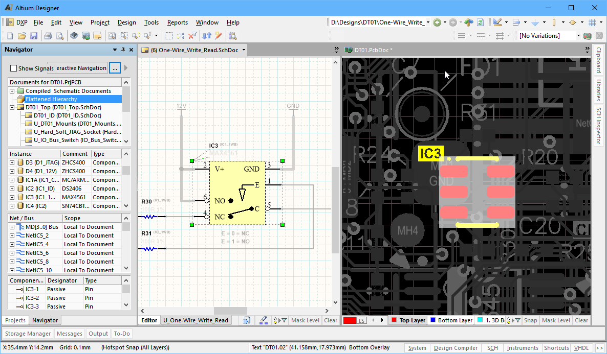 Working Between The Schematic And Board Online Documentation Central Air Conditioning Circuit One Of Great Strengths Altium Designer Is How Easily You Can Move Various Elements Your Design For Example A Click In Projects