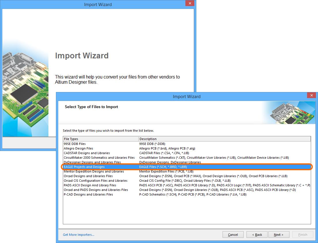 EAGLE Import   Online Documentation for Altium Products