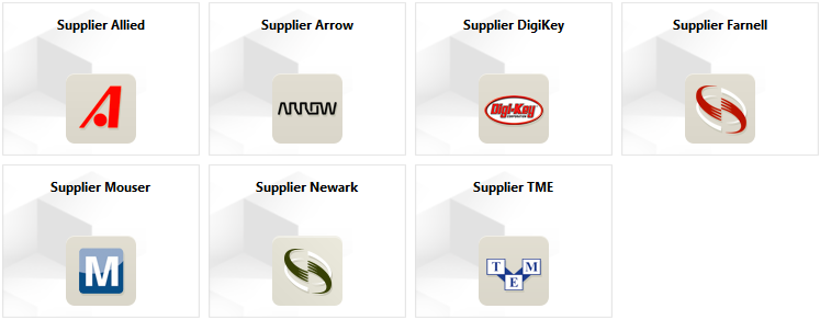 Extensions available for install that provide direct connection to the web services of the indicated Supplier.