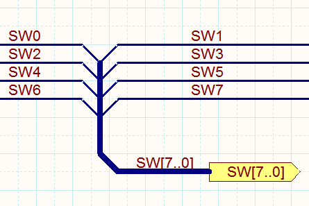 All of the elements shown in the image above must be included to create a valid Bus. Bus Entries only need to be used if you want to rip different bus elements from both sides of the Bus.