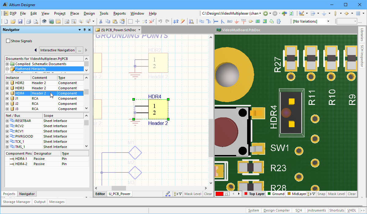 Creating Connectivity Online Documentation For Altium Products Diagram To Draw And Wiring Common Circuit Symbols On Navigate A Component The Schematic Pcb At Same Time