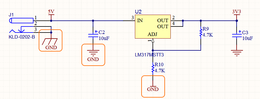 It's the net name that determines what net a power port is connected to, not the Style of the symbol - the 3 highlighted power ports all connect to the GND power net.