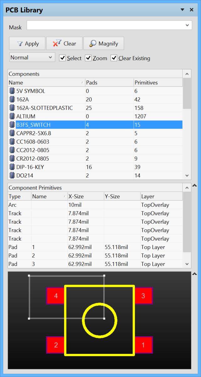 PCB Library | Altium Designer 15 1 User Manual | Documentation