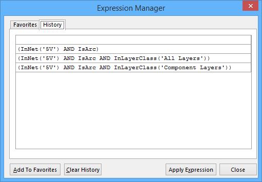 Expression Manager (PCB) | Altium Designer 15 1 User Manual