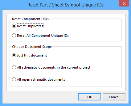 Reset Part and Sheet Symbol Unique IDs | Online Documentation for ...