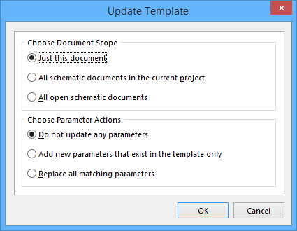 Update Template   Online Documentation for Altium Products