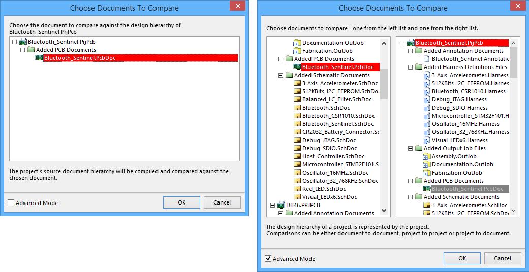 Choose Documents To Compare   Altium Designer 15 1 User