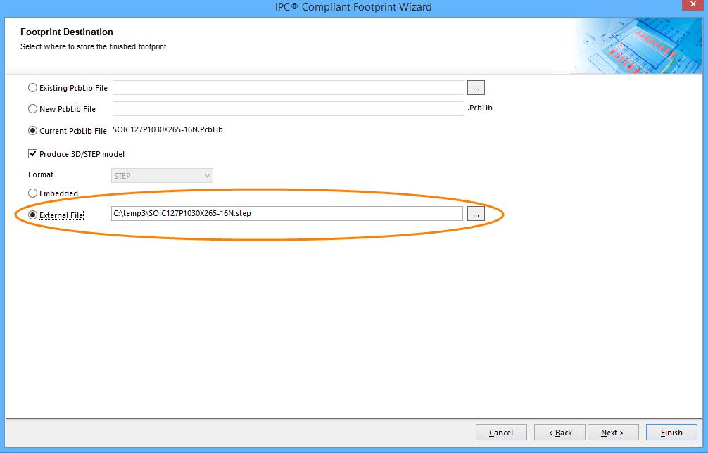 3D STEP Model Generation in IPC Wizard   Altium Designer 16 0 User