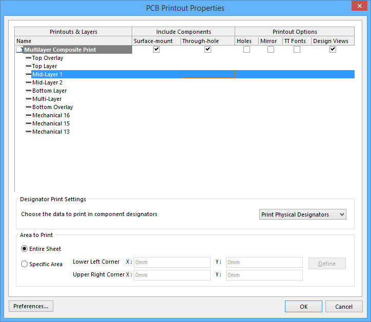 image about Printout Designer named PCB Printout Residences Altium Designer 17.0 マニュアル