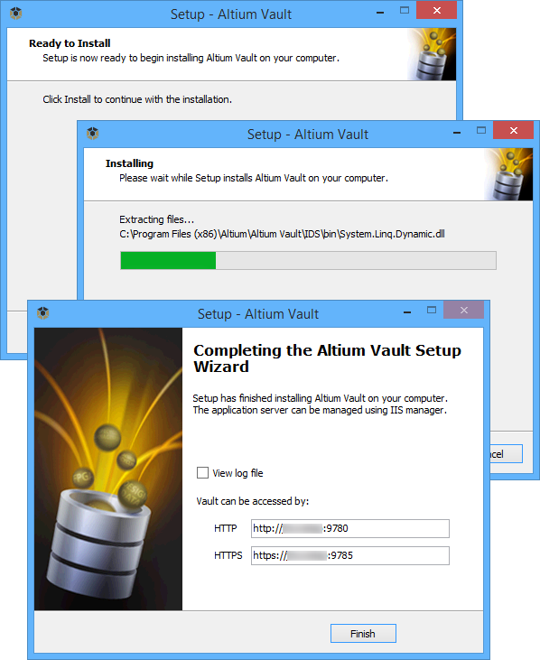 Installing the Altium Vault | Altium Vault 3 0 User Manual