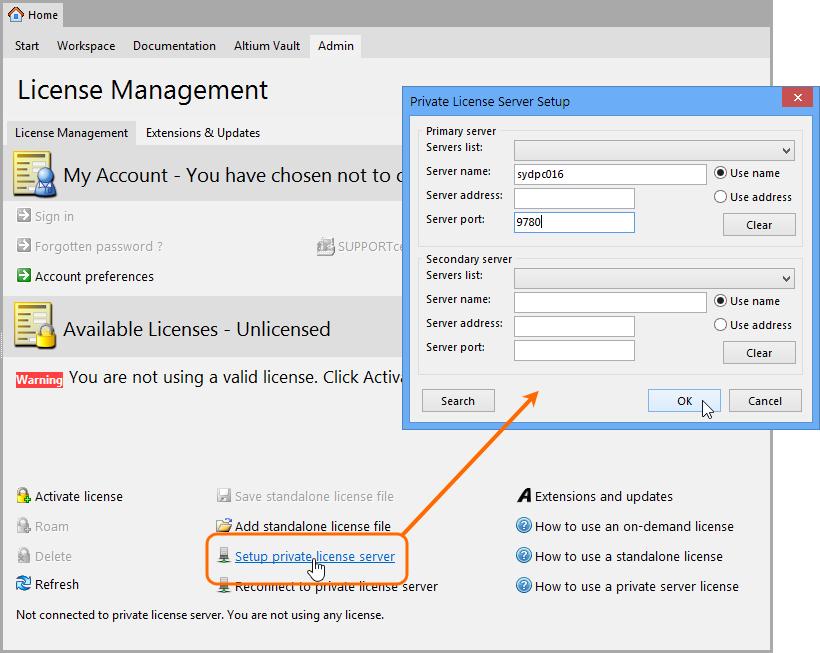 Private License Service | Altium Vault 3 0 User Manual